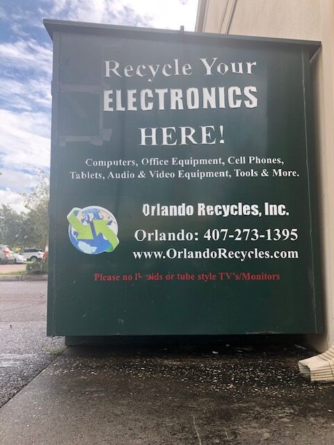 Orlando Recycles Electronic Recycling Bin