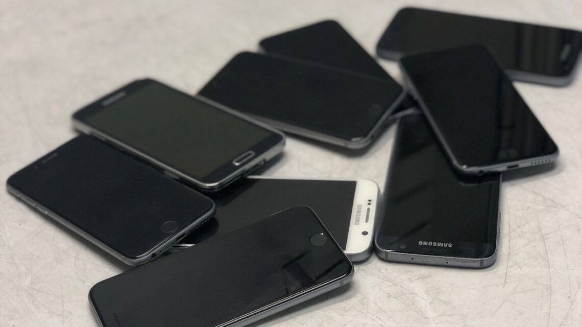 assorted smartphones